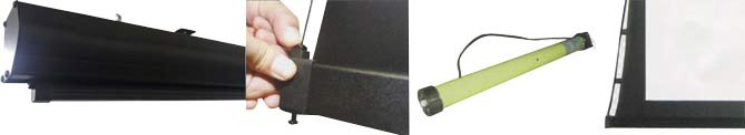 Electric tab tension projector screen details