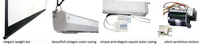 Motorized projector screen details