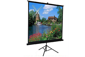 Gain 1.0 Matte White Tripod Projector Screen