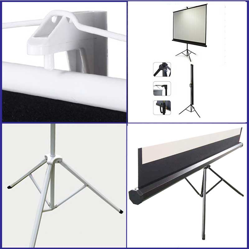 Gain 1.0 Matte White Tripod Projector Screen Details